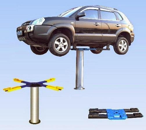 Cầu nâng 1 trụ được sử dụng phổ biến hiện nay tại các gara ô tô