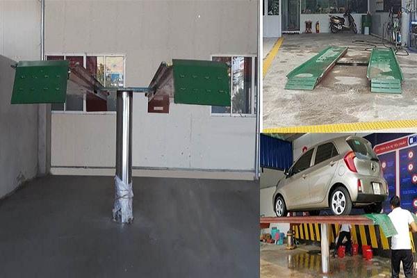 Cầu nâng là thiết bị không thể thiếu trong tiệm rửa xe ô tô