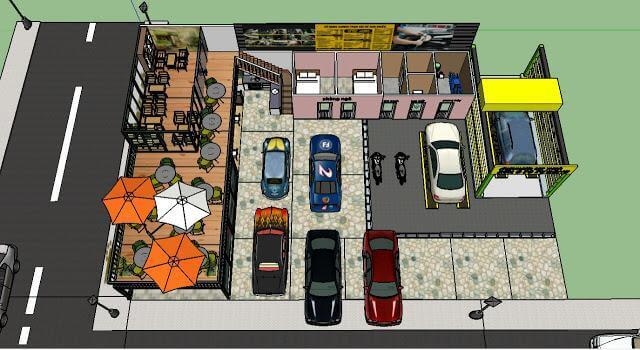 Chọn mặt bằng tiệm rửa xe ở vị trí đẹp, diện tích đủ để cung cấp dịch vụ