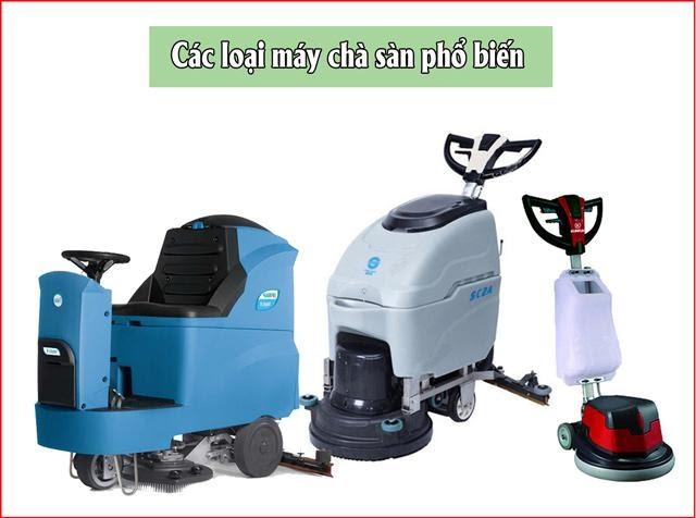 3 loại máy chà sàn phổ biến