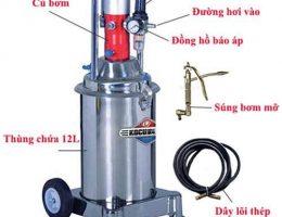 Cách hoạt động của máy bơm mỡ bằng hơi